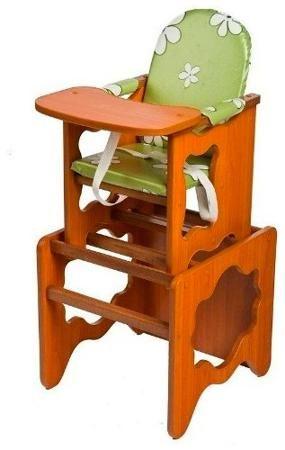 Пмдк Стол-стул премьер лдсп светлый орех (клеёнка) (ромашки зеленые)  — 2100р.  Стол-стул для кормления Премьер Удобный и функциональный стульчик для кормления. Легко трансформируется в столик и стул для малыша. Для создания высокого стульчика для кормления вам нужно установить  малый стул на столик. Стульчик устойчив и не опрокидывается. Края сглажены и безопасны для ребенка. 3-точечные ремни безопасности. Удобный съемный моющийся чехол из непромокаемой бязи. Высота от пола 52 см…