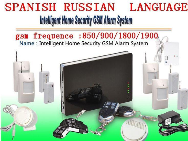 IOS Apps APP Smart Wireless Burglar GSM Home Security Alarm System with Remote Control Smoke Sensor SMS & Calling Alarm