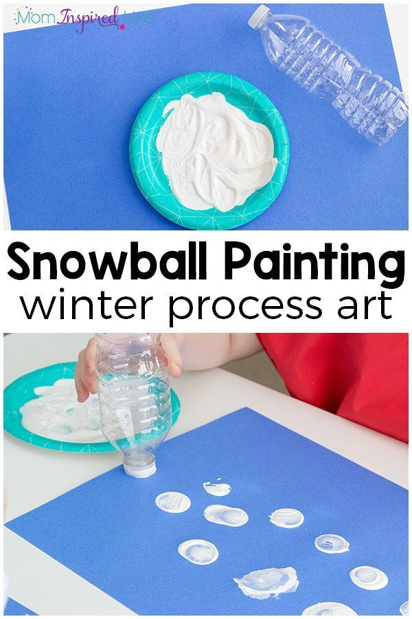 This winter art project for kids is a super fun process art painting activity that kids really enjoy!