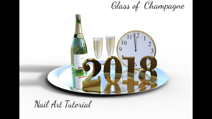Champagne Glass  Naiil Art  Tutorial