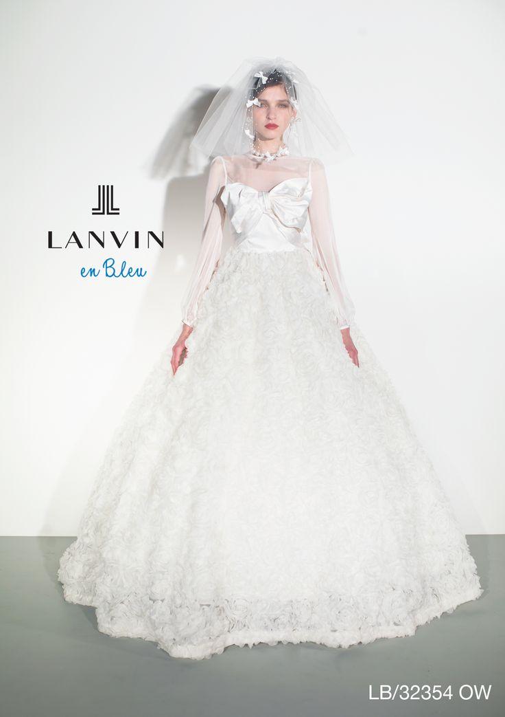 アクア・グラツィエがセレクトした、LANVIN EN BLEU(ランバン オン ブルー)のウェディングドレス、LB32354をご紹介いたします。