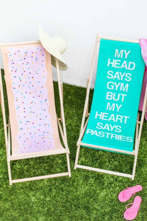 DIY Sling Beach Chair Makeovers - Studio DIY