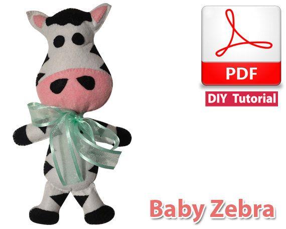 Baby Zebra PDF Tutorial INSTANT DOWNLOAD by vitbich on Etsy, $3.50