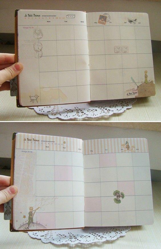 """"""" Маленький принц """" жесткий футляр любой год дневник мило DIY планировщик карманные журнал школы исследование ноутбук корейской повестки дня блокнота памятка подарок купить на AliExpress"""