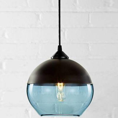(Entrepôt UE)Lustre design suspension Industriel en forme de Bol Noir lampe suspendue luminaire décoratif pour salle chambre cuisine pas cher chez homelavafr