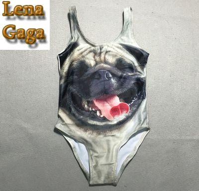 Lena Gaga 2016 Kitty Skirt Swimsuit Girls Kids Swim Suit Maillot New Models With Briefs Bottom, Pink, Juniors Girl Size