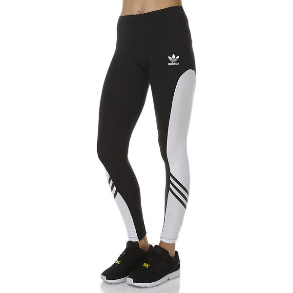 Adidas Black And White Leggings - The Else