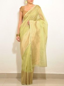 Green Kota-Silk Saree