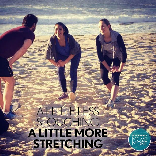 A little less slouching a little more stretching.