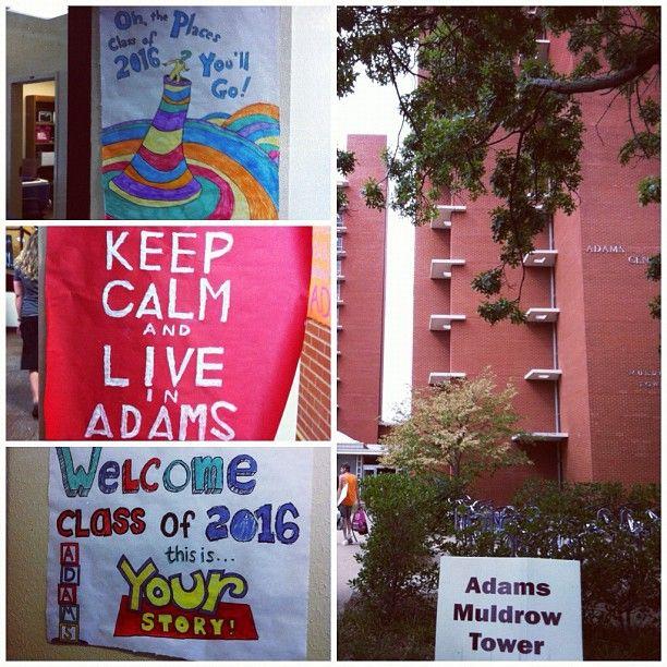 Adams Center residence hall.