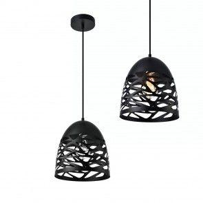 [lux. Pro] Design Lampada a sospensione con motivi nera 33,00 €