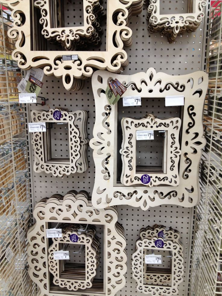 Lazer cut wood frames at Michael's .