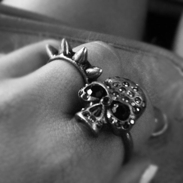 #Ring #skull #spike