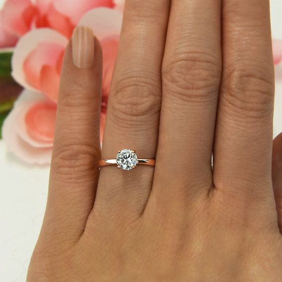 1 ct 4 Prong Engagement Ring Solitaire Ring Man by TigerGemstones