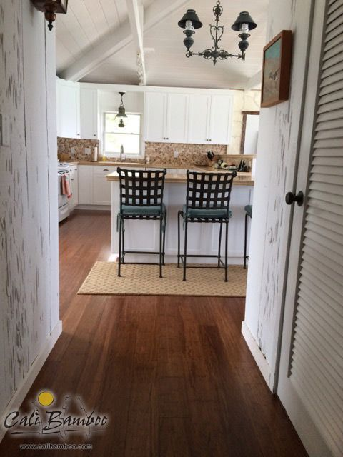 Java Bamboo Flooring Looks Beautiful In The Kitchen