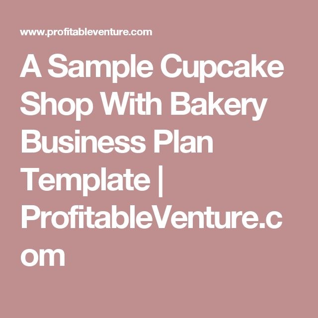 A Sample Cupcake Shop With Bakery Business Plan Template