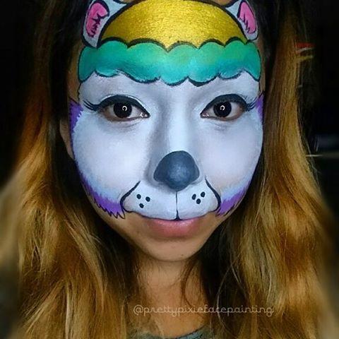 Paw Potrol Sky Face Paint