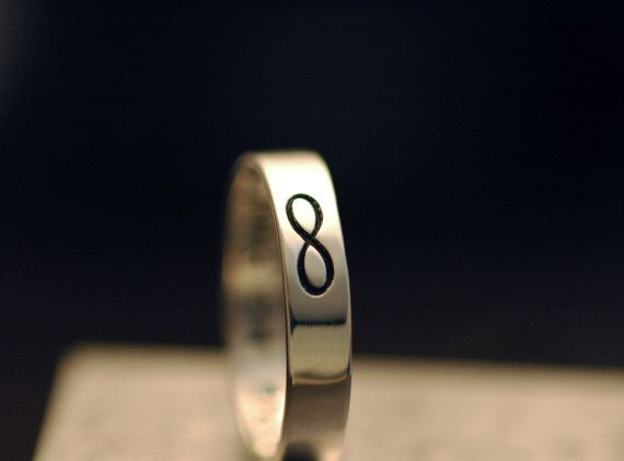 Infinity Ring  Handmade in Sterling Silver  Made to by plyeffects