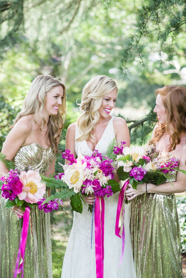 171 best bridesmaid photography images on pinterest marriage garden glam wedding inspiration sparkly bridesmaidsgreen bridesmaid dressessequin ombrellifo Images