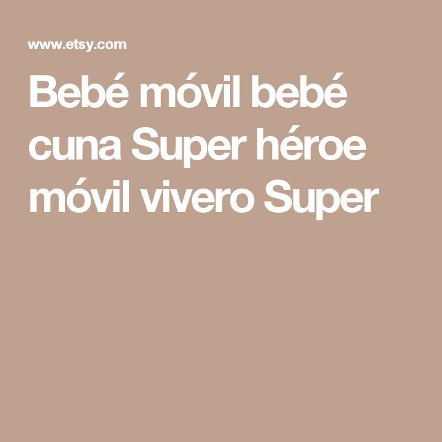 Bebé móvil bebé cuna Super héroe móvil vivero Super