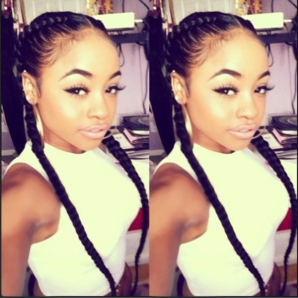 ultra short hairstyles : ... Braids 4 Days...&Days Pinterest Two Braids, Protective Styles and