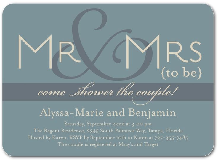 Couples Bridal Shower Invitations