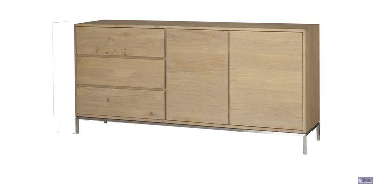 Dressoir hoog (2 deuren, 3 laden) - Lofty Collectie