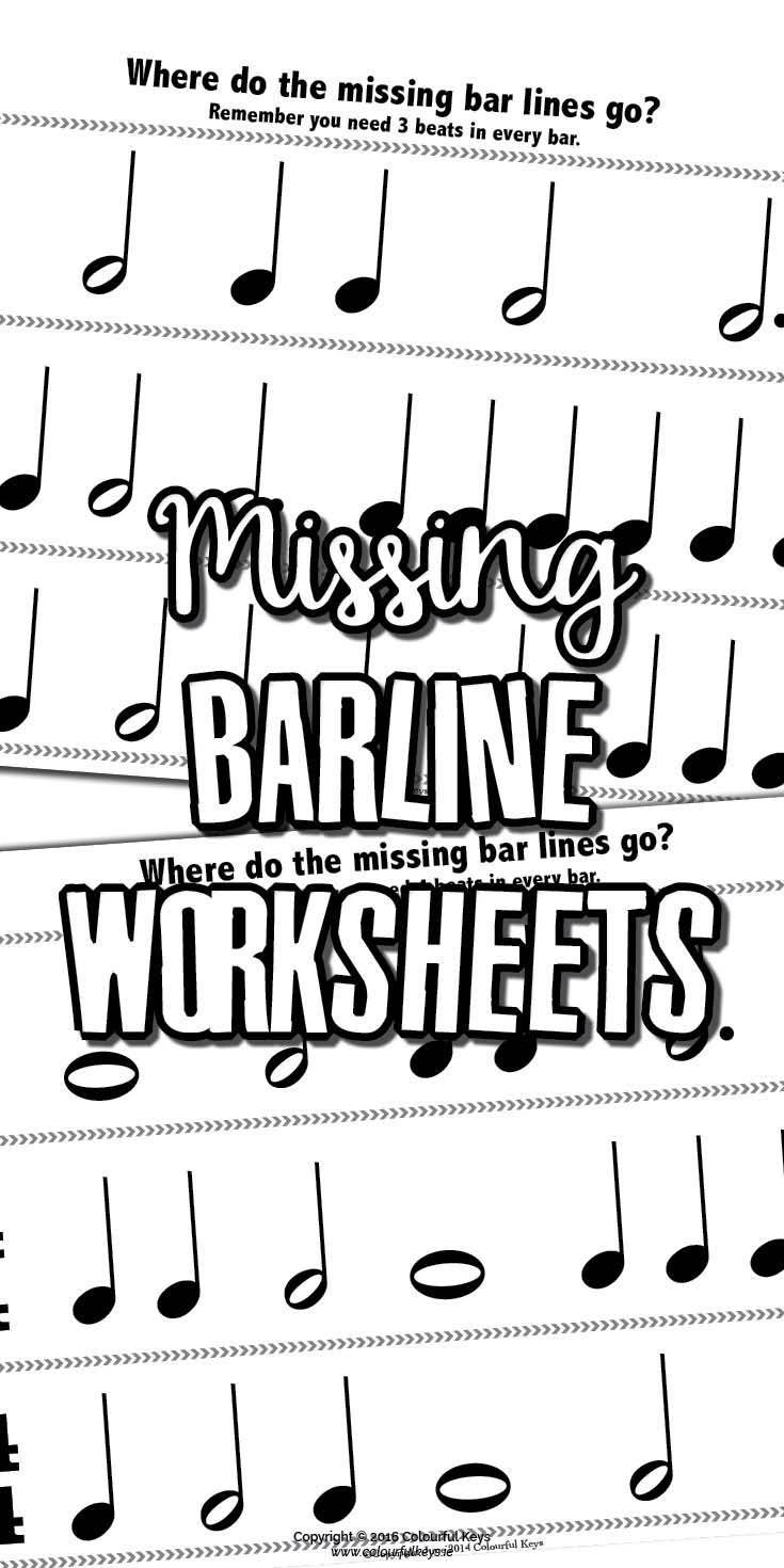 Missing barline worksheets