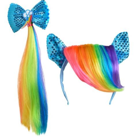 Rainbow Dash Accessory Set 2pc - Party City                                                                                                                                                                                 Mais