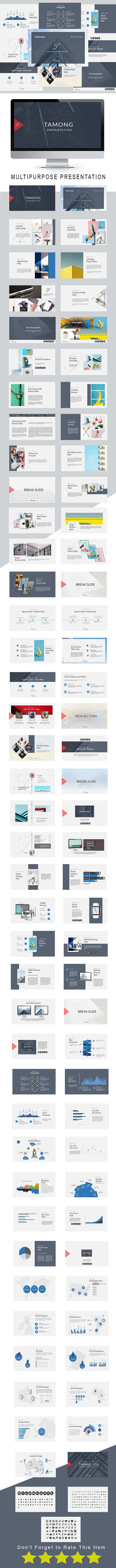 Tamong Multipurpose Powerpoint Template - PowerPoint Templates Presentation Templates