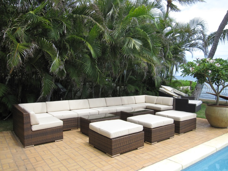 Ohana Wicker Furniture Outdoor Patio Furniture Deep Seating Set / Ohana  Depot