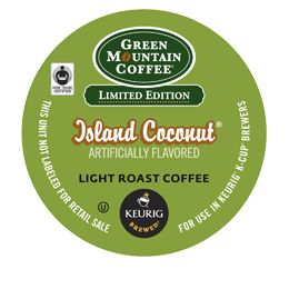 Island Coconut® Coffee by Green Mountain Coffee® at Keurig.com.  For a limited time 9-19-13.  No check box to place in cart.... confused.  Check back