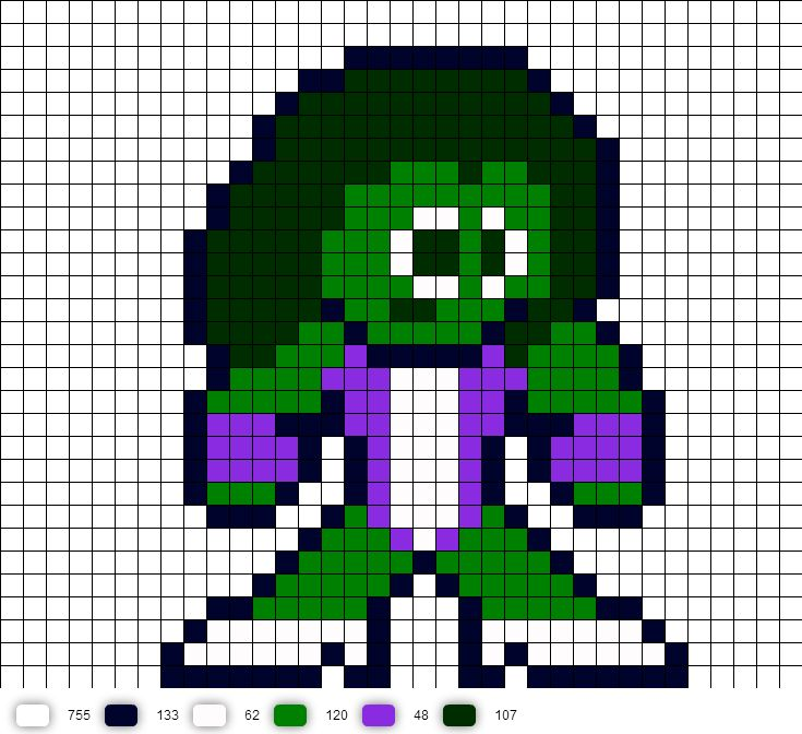 hulk pixel art for - photo #7
