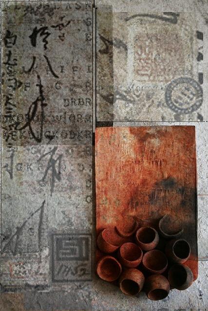 I love pit fire (tecnica pit fire. solfato di ferro su ceramica refrattaria in riduzione di 24 ore)/  by TER DAR (Dario Terenghi)