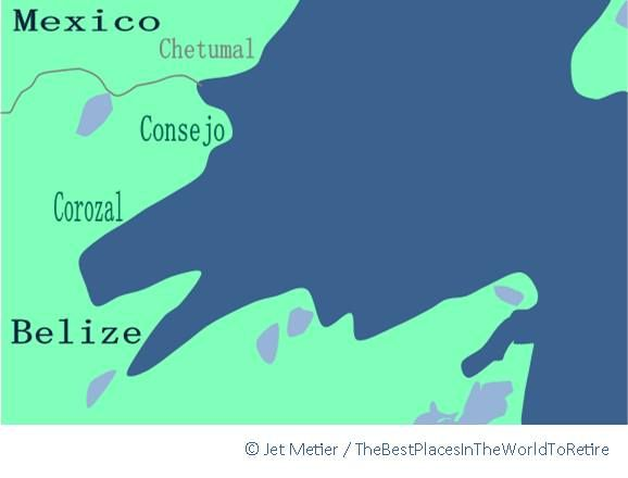 As the Caribbean comes inland and Orchid and Corozal Bays take their bite, the water that surrounds Corozal district looks like it was formed during the Mesozoic Era, a dinosaur dining on the succulence of Belize.