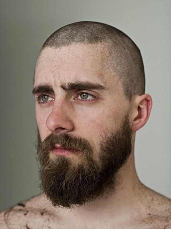 Pictures of men with a bald or shaved head