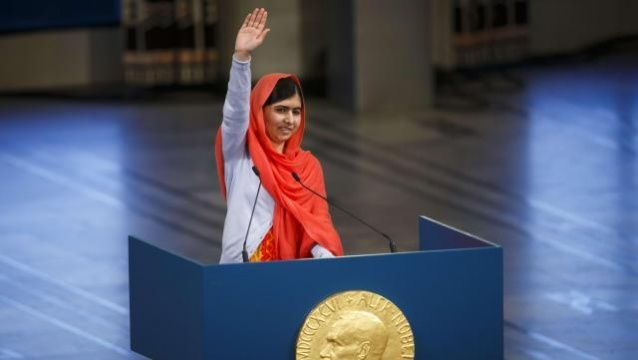 Malala Yousafzai accepts Nobel peace prize with attack on arms spending   World news   The Guardian