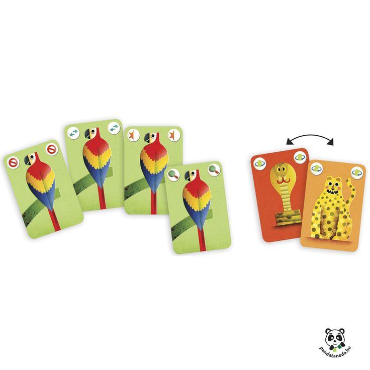 Recto verso izgalmas kétoldalú kártyajáték Djeco   Pandatanoda.hu Játék webáruház