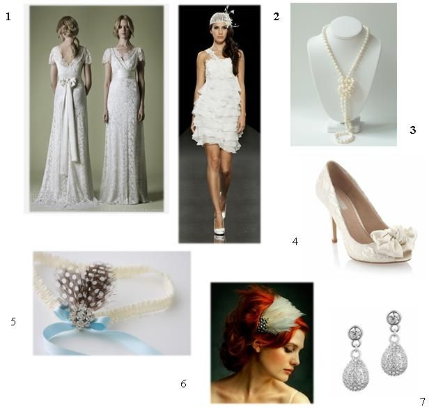 {Vintage Bride} 1920s Bridal Look – The Glamour of Old to Life   GET THAT 1920′S VINTAGE BRIDAL LOOK! Today's post is for our vintage brides as we look at how to put together ultimate 1920′s bridal look!    To talk about the 1920s, you need to visualize Great Gatsby: glamour, parties, colours, cinemas, jazz music, night life etc. There is no doubt that its mythical feel still lingers today. So what better era to pick for a glittering and glamorous occasion such as your wedding? #vintage…