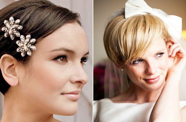 Nőies esküvői frizurák rövid hajból Az alig pár centis is lehet szexi