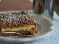 Drobenkový koláč s jablky a tvarohem