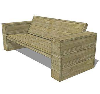 Bekijk hier hoe je een bank van steigerhout kunt maken | Praxis