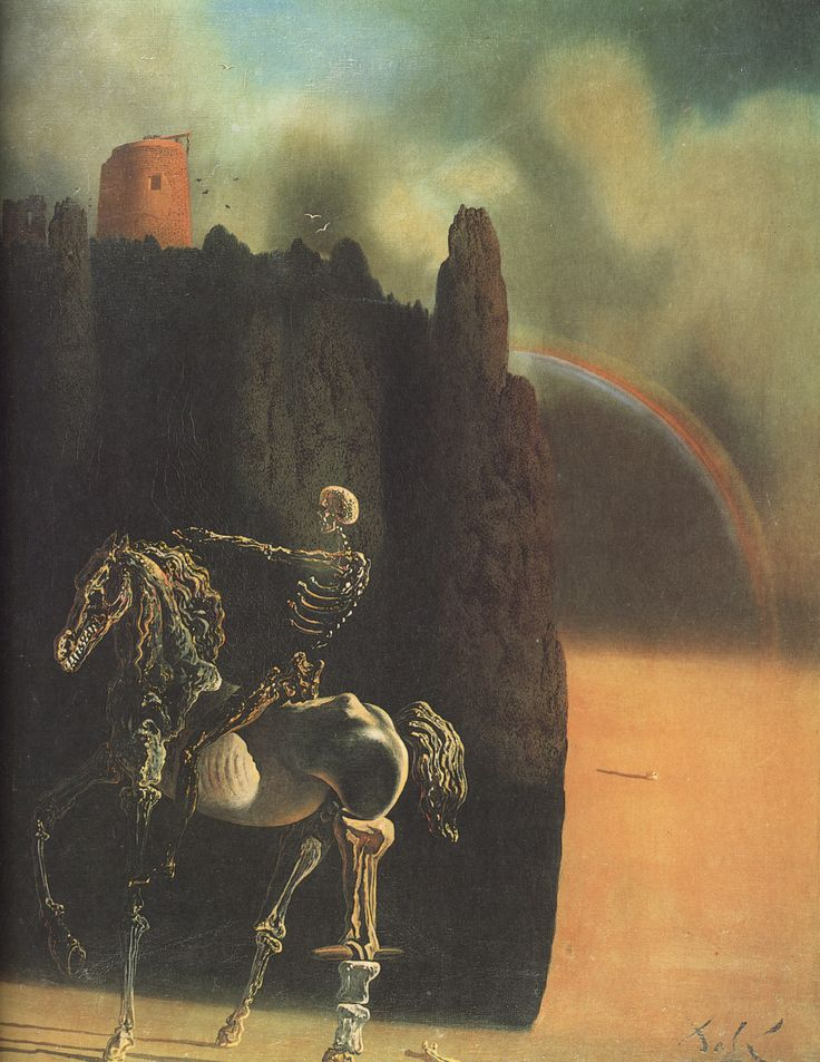 """The Horseman of Death"", 1935, Salvador Dalí. #deathinart"