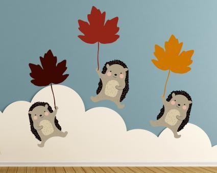 Awesome Wandtattoo Fliegende Igel Wandsticker Fliegende Igel Herbstliche Deko f r die Wand Hochwertige selbstklebende Folie Ma e x cm Breite x H he