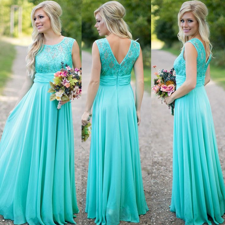 Turquoise bridesmaid dresses orange flowers 2017