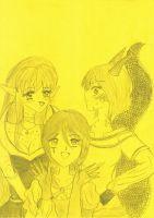 Abitryss x Idun x Ondolinde ~ yellow paper by MaronHime