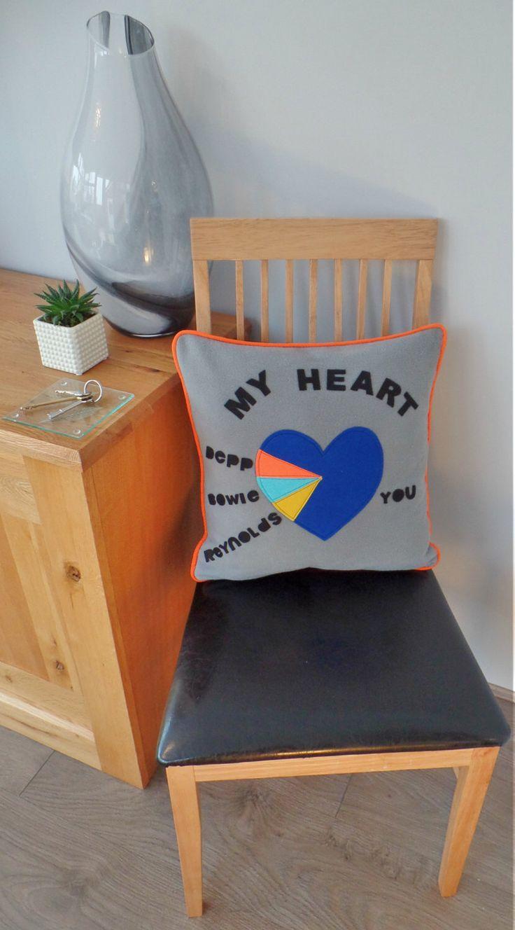 Valentine's Heart Cushion - Personalised Valentine's Gift - Personalised Anniversary Gift - Personalised Cushion - Anniversary Cushion by TheHiddenFlamingo on Etsy https://www.etsy.com/uk/listing/507464259/valentines-heart-cushion-personalised