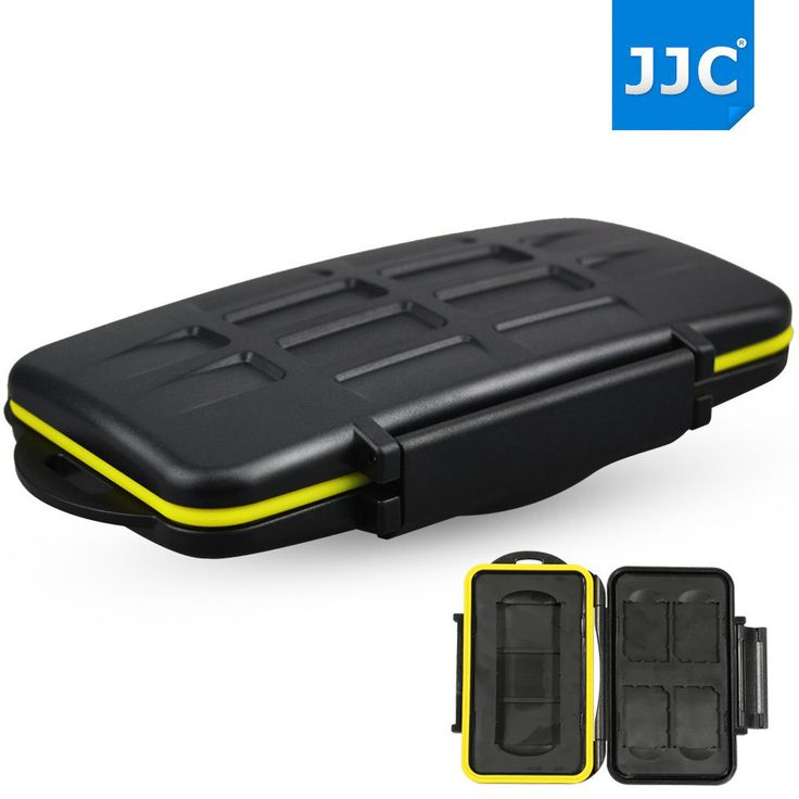 JJC Water-resistant Holder Hard Storage Memory Card Case For 4 SD Cards 1 SXS #JJC