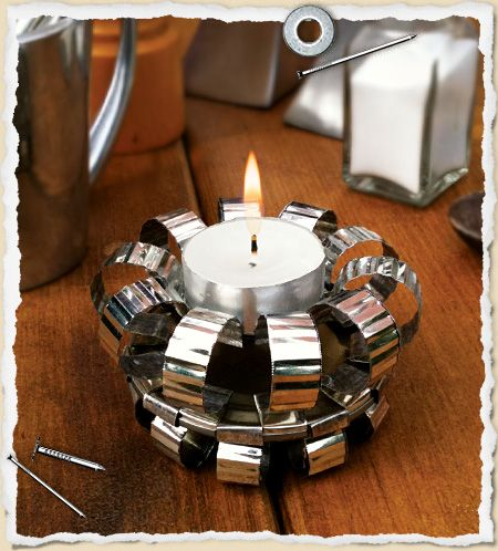 """Tin Can"" Tea Light Holder"