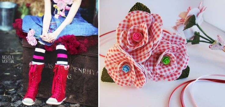 Cute flower posy's can be made to order from felt & buttons for that little fairy of yours.